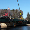 Amesbury: The Hines bridge, linking Amesbury and Newburyport, is under construction. Photo by Ben Laing/Staff Photo