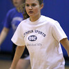 Georgetown: Georgetown's Kristen Hogan prepares to defend during practice Monday night. Photo by Ben Laing/Staff Photo