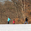 Newburyport: A group of cross country skiers braved the frigid temperatures Monday afternoon, as the set off to explore Maudslay State Park in Newburyport. Photo by Ben Laing/Staff Photo