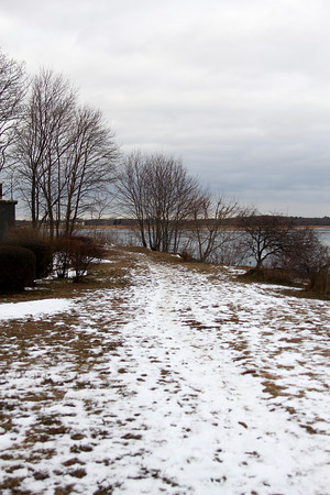 Newburyport: The entrance to the proposed trail near Joppa Park in Newburyport. Photo by Ben Laing/Staff Photo