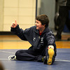Byfield: Nick Johnson of Triton gives a thumbs up to his coach, Shawn McElligot, during warm ups Wednesday afternoon. Photo by Ben Laing/Staff Photo