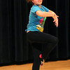 Amesbury: Amesbury seventh grader Taylor Spinney rehearses her performance for Amesbury Middle School's upcoming talent show. Photo by Ben Laing/Staff Photo