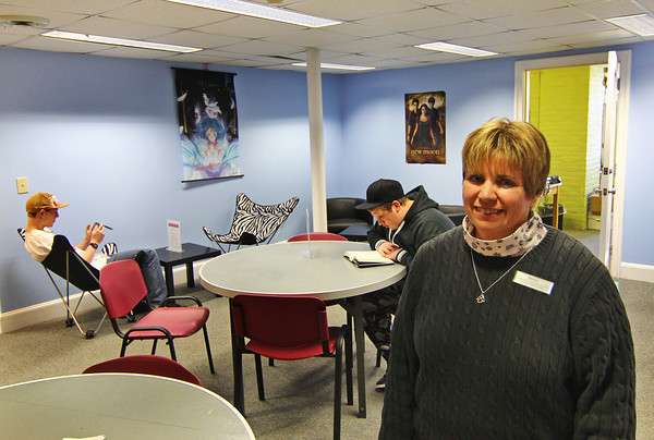 Amesbury: Margie Walker of the Amesbury Public Library is in charge of the new Teen Center, located in the basement of the library. Photo by Ben Laing/Staff Photo