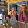 Newburyport: Rhonda Weisheit, right, has sold her bakery, Pralines, in downtown Newburyport to Lee Coughlin, left, of Amesbury. Photo by Ben Laing/Staff Photo