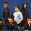 Byfield: Nick Johnson of Triton watches with his teammates as the Vikings hosted the Saugus-Winthrop wrestling team Wednesday afternoon. Photo by Ben Laing/Staff Photo