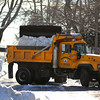 Newburyport: Department of Public Services trucks clear the snow banks along Olive Street in Newburyport Monday afternoon, as the area prepares for another snow storm later this week. Photo by Ben Laing/Staff Photo