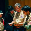 Amesbury: Amesbury's Doug McBride, speaks with boy scouts Eric Jepson, Dylan DiGracia, and Tyler Hart, as well as adult leader Nathan Fatal, right, during a scout meeting Tuesday night. Photo by Ben Laing/Staff Photo