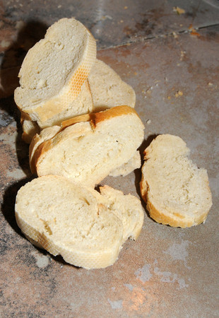 West Newbury: Sliced bread used in a strata made by Jim Dougherty at his West Newbury home. Jim Vaiknoras/Staff photo