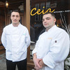 "Newburyport: Haverhill native William ""Billy"" Brandolini, right,  has got the job of Executive Chef at Ceia, his first time in such a position. He'll be flanked by his brother, Scott Brandolini, executive chef of the Seaglass Restaurant in Salisbury. Scott had help him get his career off the ground.Jim Vaiknoras/Staff photo"
