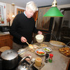West Newbury:Jim Dougherty  prepares in a strata at his West Newbury home. Jim Vaiknoras/Staff photo