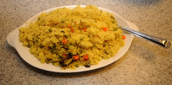 Newburyport:Lygia Soares Indian Rice dish. Jim Vaiknoras/Staff photo