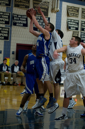 hamilton: Georgetown's Ben Warren with a basket during the Royal's game at Hamilton Friday night. Jim Vaiknoras/Staff photo
