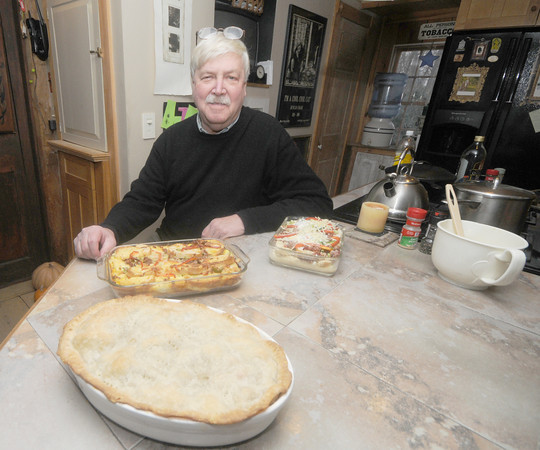 West Newbury:Jim Dougherty in his kitchen  at his West Newbury home. Jim Vaiknoras/Staff photo