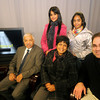 Amesbury:  Pastor jabob Moses, his wife Rena Moses of South Africa their daughters Janelle , 13 and Janene, 14 and pastor Michael John of the Main Street Baptist Church on the set of the Amesbury Access cable show Faith Matters. Jim Vaiknoras/Staff photo