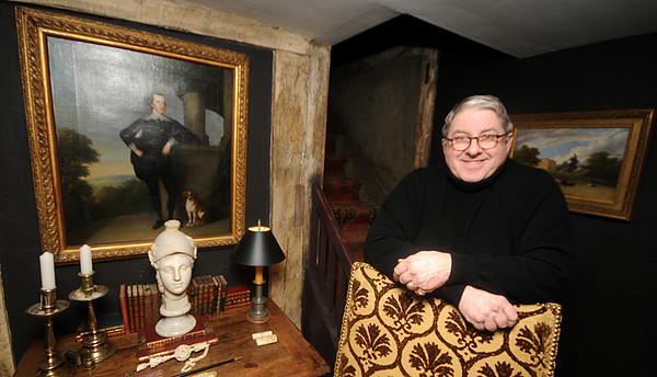 Byfield:  Alan Collachicco, curator of the House of Seven Gables, at his Byfield home. Jim Vaiknoras/Staff photo