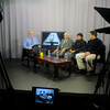Amesbury: Cable host Don St Marie talks with Pastor jabob Moses, his wife Rena Moses of South Africa and pastor Michael John of the Main Street Baptist Church on the Amesbury Access cable show Faith Matters. Jim Vaiknoras/Staff photo