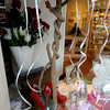 Newburyport: Shoe display by Bettina Turner in the window of Valentine's on State Street in Newburyport. It's Anna Jaques Hospital Hearts and Sole Exhibit. Jim Vaiknoras/Staff photo