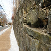 Newburyport: The wall at Newburyport High School along Toppan's Lane is in need of repair. Bryan Eaton/Staff Photo