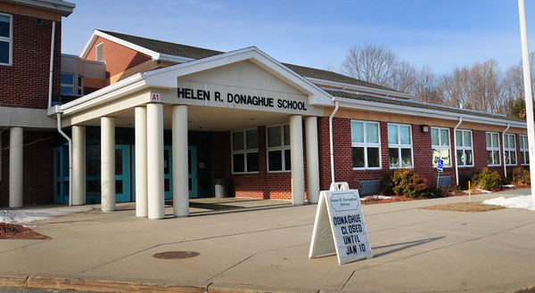 Merrimac: The Donaghue School in Merrimac has been closed for now with mold problems. Bryan Eaton/Staff Photo