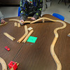Amesbury: Hunter Fournier, 5, builds a race track for miniature cars in Sue Gonthier's kindergarten class at Amesbury Elementary School.  He was at indoor recess due to the very cold weather. Bryan Eaton/Staff Photo