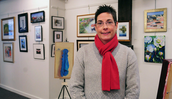 Newburyport: Elena Ruocco Bachrach is the new Executive Director of the Newburyport Art Association. Bryan Eaton/Staff Photo