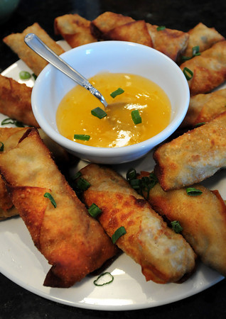 Rowley: Homemade Eggrolls for the Superbowl. Bryan Eaton/Staff Photo