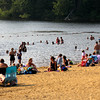 Amesbury: Lake Gardner was a popular place Wednesday afternoon as people in Amesbury and the surrounding area tried to cool off from the high heat and humidity. Photo by Ben Laing/Staff Photo