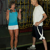 Salisbury: Kate McKay, figure competitor at Yankee Classic works out with trainer Michael Champagne. Bryan Eaton/Staff Photo