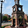 Newburyport: The new clock tower and fountain at the Institution for Savings main office on State Street in Newburyport has been completed. Bryan Eaton/Staff Photo