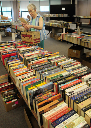 Seabrook: Anne Ferreira of the Seabrook Public Library is hoping for a good turnout for the weeklong book sale starting Tuesday, July 5. Bryan Eaton/Staff Photo