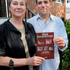 Newburyport: Karen Battles and Greg Colling have led efforts of the Newburyport Preservation Trust to publish a walking tour booklet of Newburyport. Bryan Eaton/Staff Photo