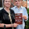 Newburyport: Karen Battles and Greg Colling have led efforts of the Newburyport Preservation Trust to publish a walking tour booklet of Newburyport. Bryan Eaton/Staff Photo