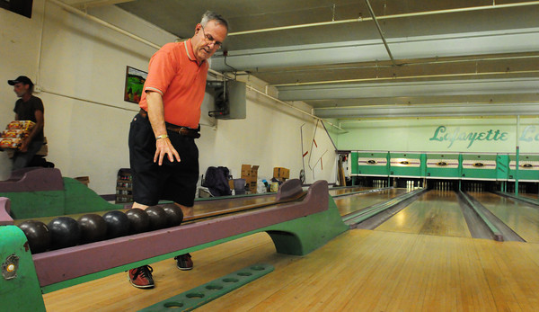 Amesbury: Al Carreiro bowls at Lafayette Lanes on Mondays with friends from Amesbury's Council on Aging. The group will have to find another place to go, or cancel the activity as the Amesbury landmark is closing its doors on Thursday night. Bryan Eaton/Staff Photo