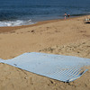 Newburyport: The public access point on Plum Island at the end of 57th Street has been reopened with a rollout mat laid down the dune to make it easier to walk on and keep sand intact. Bryan Eaton/Staff Photo