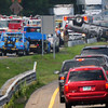 Salisbury: A person was Medflighted after being trapped in this upturned truck in the southbound lane of Interstate 95 in Salisbury at the offramp of Route 286 yesterday afternoon. Traffic was backed up in both directions. Bryan Eaton/Staff Photo