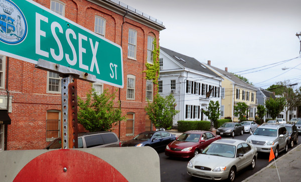 Newburyport: Residents along several downtown streets in Newburyport, including Essex Street, are hoping to get resident permit parking only, claiming the paid parking has made getting a spot near their residences more difficult. Bryan Eaton/Staff Photo