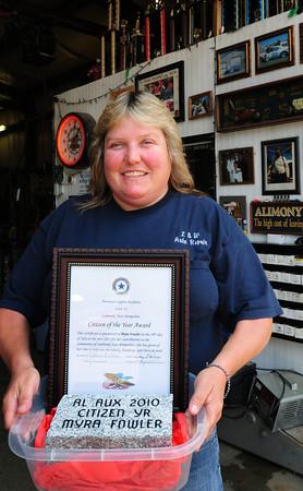 Seabrook: American Legion Auxiliary, Unit 70, Seabrook's Citizen of the Year Myra Fowler. Bryan Eaton/Staff Photo
