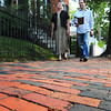 Newburyport: Karen Battles and Greg Colling, on Fruit Street, have led efforts of the Newburyport Preservation Trust to publish a walking tour booklet of Newburyport. Bryan Eaton/Staff Photo