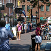newburyport: Visitors to Newburyport enjoy a much cooler afternoon stroll down Inn Street Sunday. Jim Vaiknoras/Staff photo