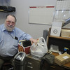 Amesbury: Bill Brooks sits in his half empty office at the Amesbury Playhouse. Jim Vaiknoras/Staff photo