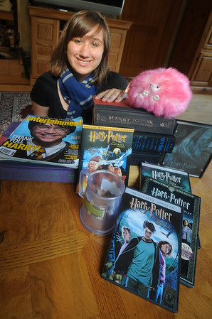 West Newbury Rachel Smith of West Newbury with with some of her Harry Potter items. Jim Vaiknoras/Staff photo