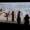 Salisbury: Salisbury beach begins to fill up early Saturday morning. Jim Vaiknoras/Staff photo