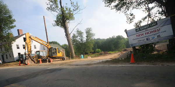 Amesbury: Site of 13 new homes being built on the Margaret Rice property on Lion's Mouth Road in Amesbury. JIm Vaiknoras/Staff photo