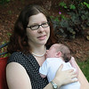 newburyport: Jennie Donahue with her 3 week old son  Olyver, the  Newburyport woman recognized by Carroll Center for the Blind and Massachusetts Commissin for the Blind for her contributions to the workplace,<br /> Jim Vaiknoras/staff photo