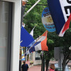 Amesbury: Open flags wave along Main Street in downtown Amesbury. Jim Vaiknoras/Staff photo