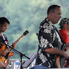 "West Newbury: The rock band ""Way to the River"" performs at the West Newbury  town gazebo Thursday night. Jim Vaiknoras/Staff photo"