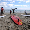 Salisbury: paddlers waiting for their heat, cheer on racers  in the Altlantic Paddle Battle Race on Salisbury Beach Saturday. The race was part of the Surf Music and Art Fest at tthe beach. jim Vaiknoras/Staff photo