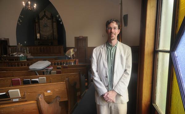Byfield: Matt Willis-Goode, the new minister at the Community United Methodist Church in Byfield. Jim Vaiknoras/Staff photo