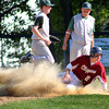Newburyport: Newburyport's Jim Conway (2) slides safely into second base as the Clippers hosted Austin Prep Monday afternoon. Photo by Ben Laing/Staff Photo