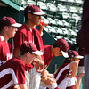 Lynn: The Newburyport bench looks on as the Clippers battled Bishop Fenwick's baseball team at Fraser Field in Lynn Wednesday afternoon. Newburyport advanced to the next round of the state tournament with a 3-0 win. Photo by Ben Laing/Staff Photo